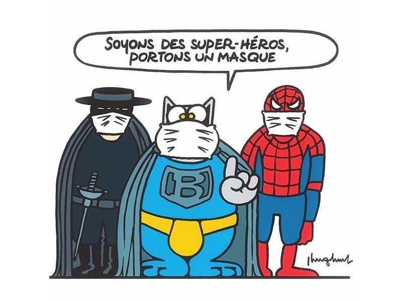 Carte Soyons des super héros : Portons le masque