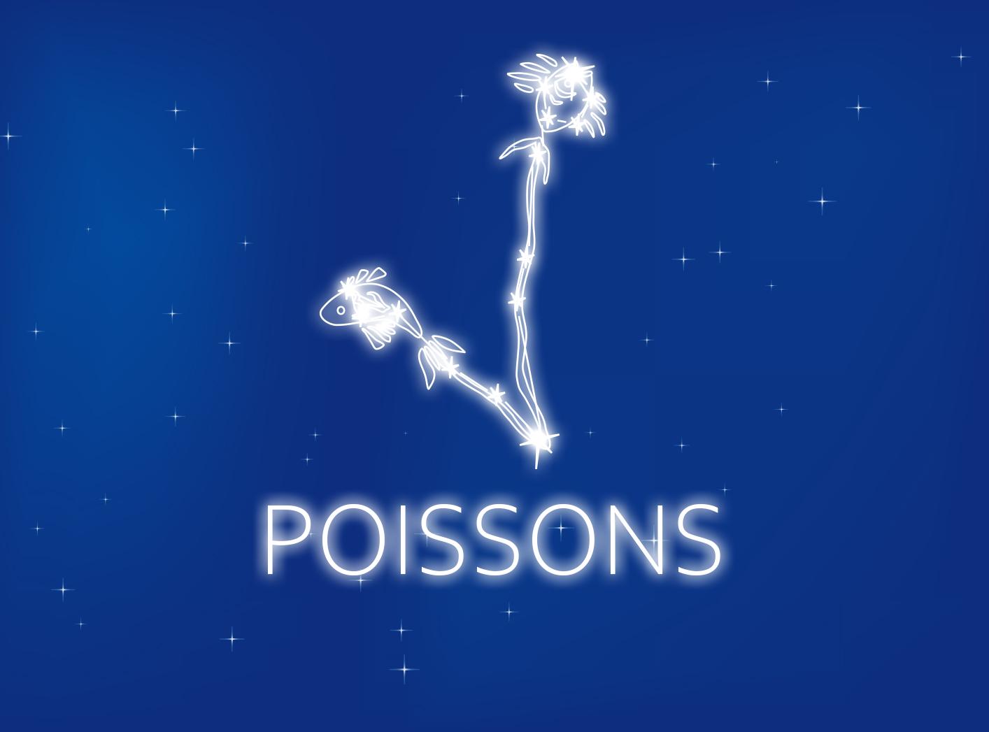 Carte du signe du zodiaque gratuite Poissons du 20 février au 20 mars