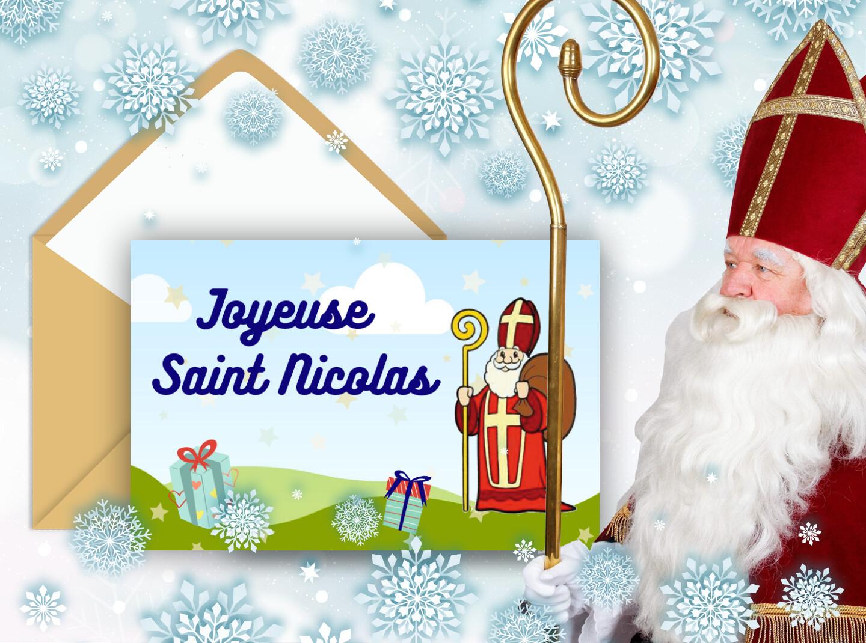 Carte saint Nicolas à envoyer gratuitement - Carte à programmer - Joyeuse saint Nicolas
