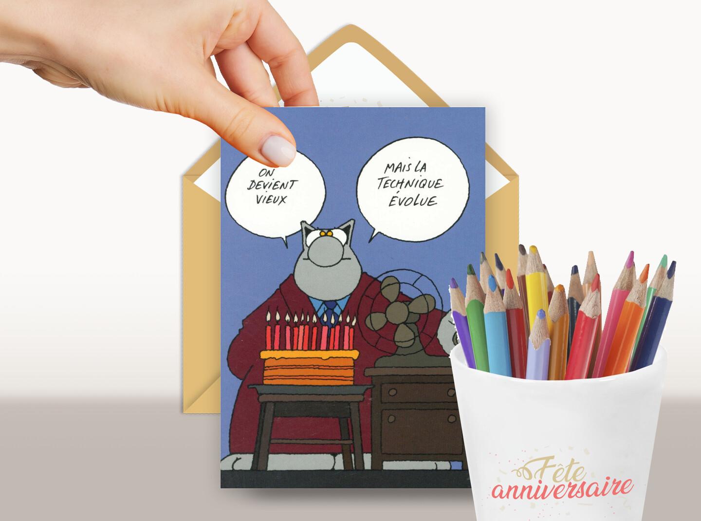 Carte d'anniversaire humoristique : on devient vieux !