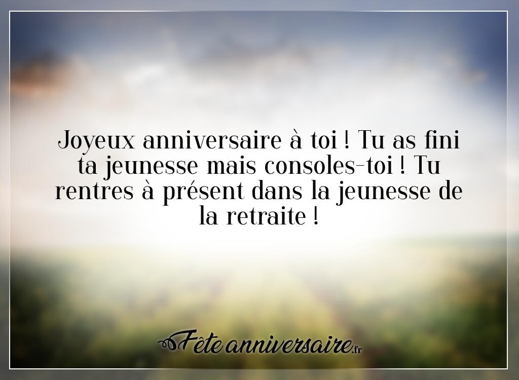 Texte D Anniversaire 50 Ans La Jeunesse De La Retraite