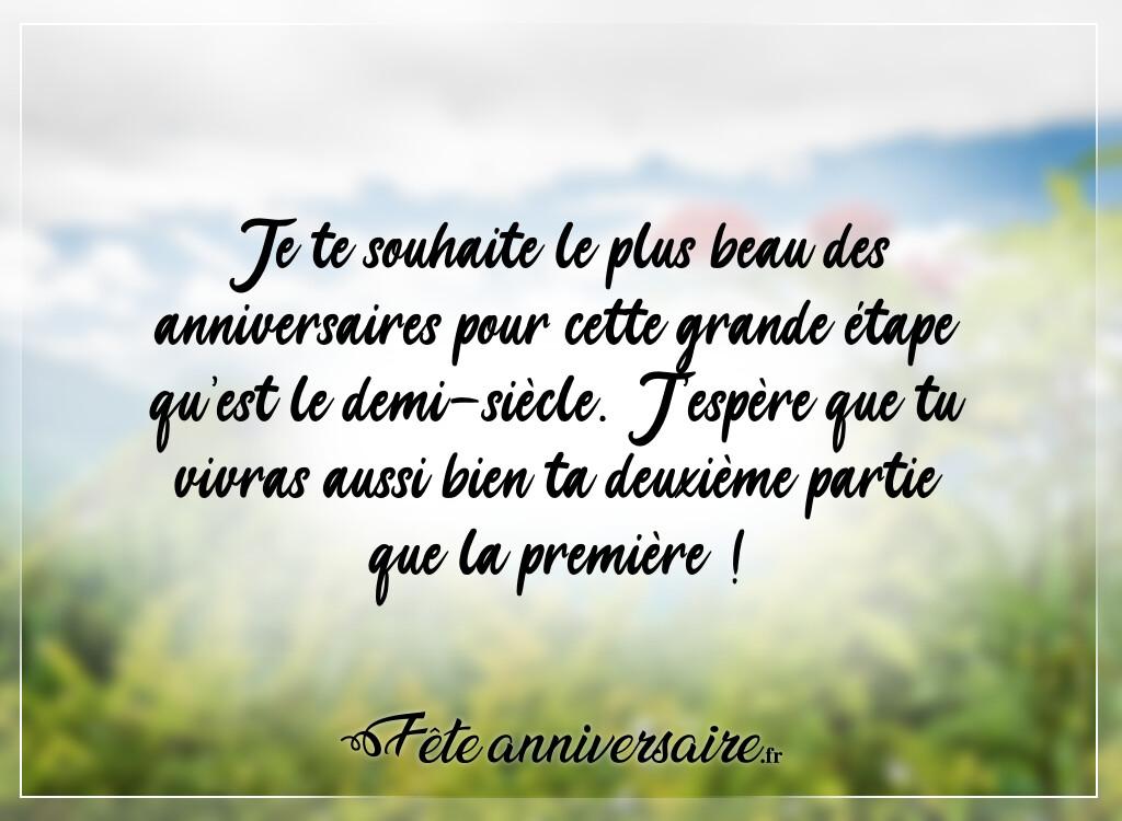 Texte D Anniversaire 50 Ans Vive Le Demi Siecle