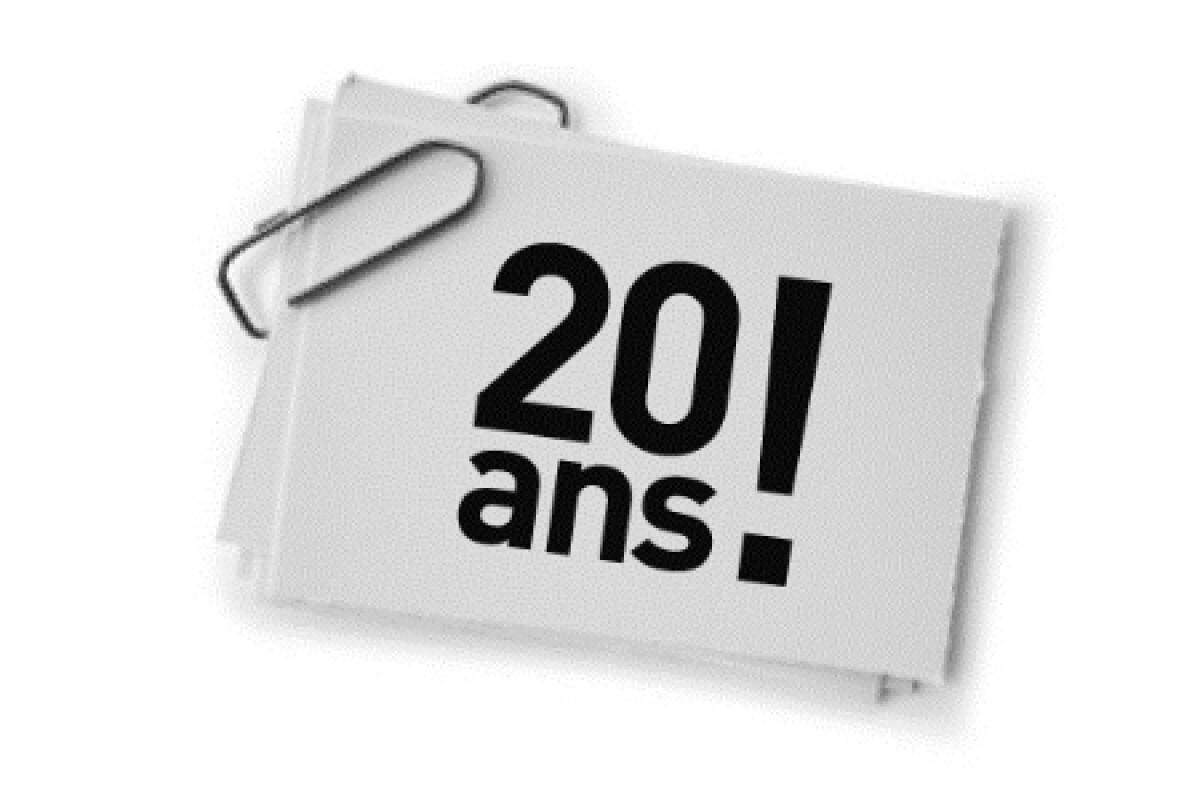 Moderne Textes et messages d'invitation 20 ans JG-64