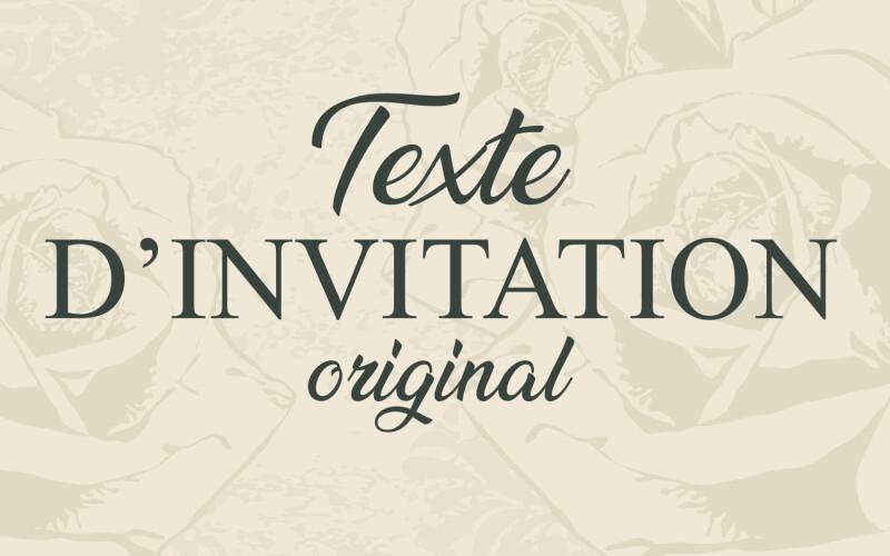 Texte D Invitation Anniversaire Original Decouvrez Nos Textes D Invitations