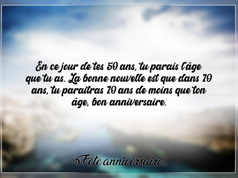 Texte D Anniversaire 50 Ans Paraitre Son Age